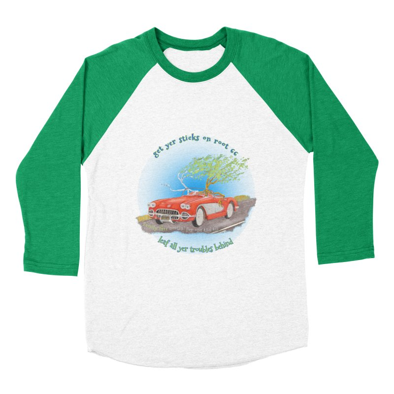 Root 66 Women's Baseball Triblend Longsleeve T-Shirt by Family Tree Artist Shop