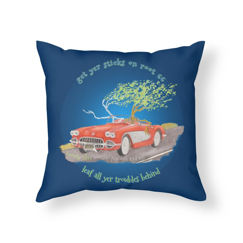 Root 66 Home Throw Pillow by Family Tree Artist Shop