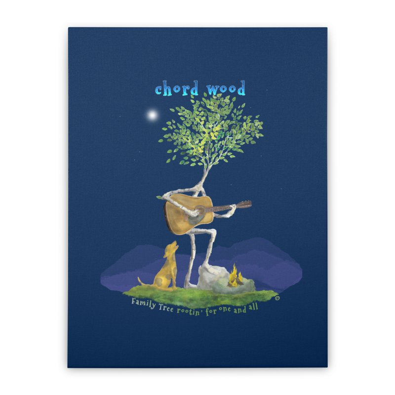 half chord wood Home Stretched Canvas by Family Tree Artist Shop