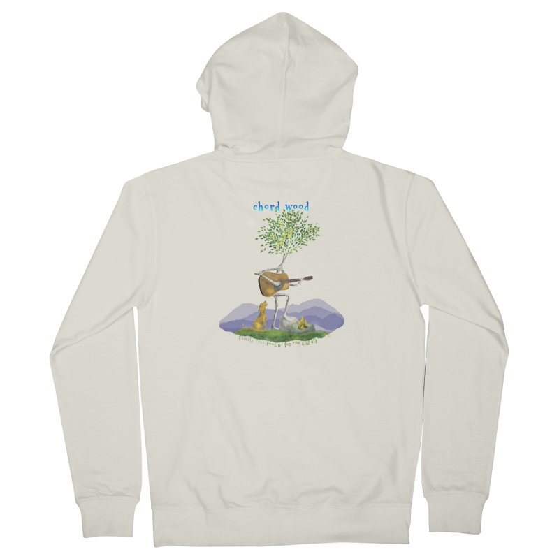 half chord wood Women's French Terry Zip-Up Hoody by Family Tree Artist Shop