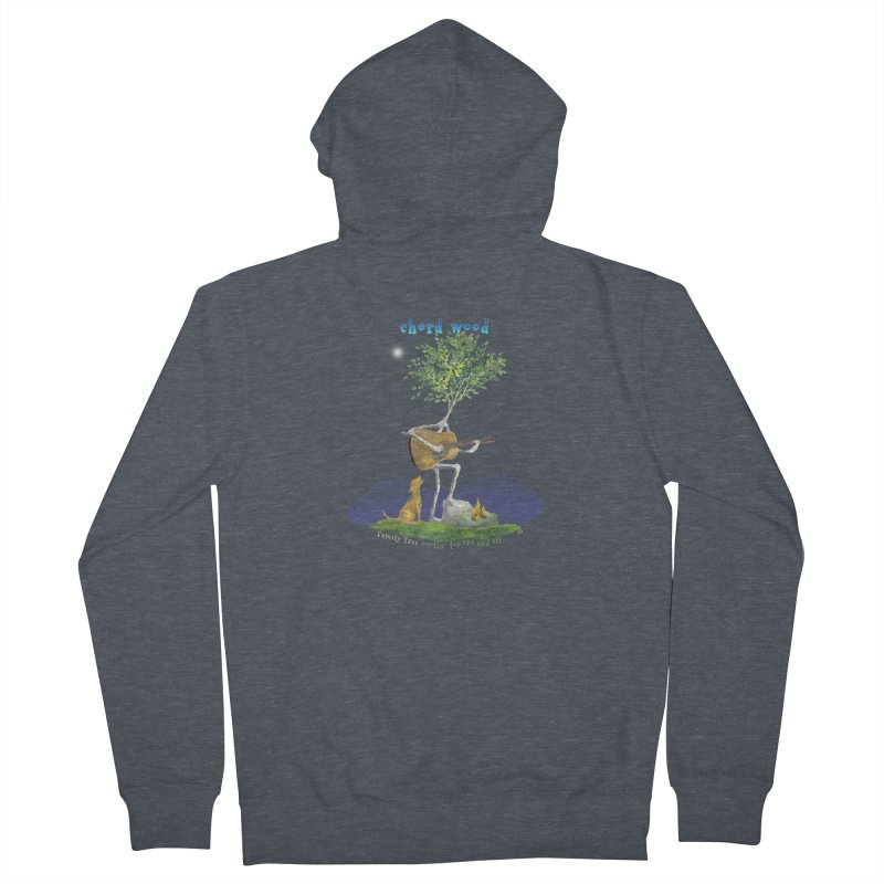 half chord wood Men's French Terry Zip-Up Hoody by Family Tree Artist Shop
