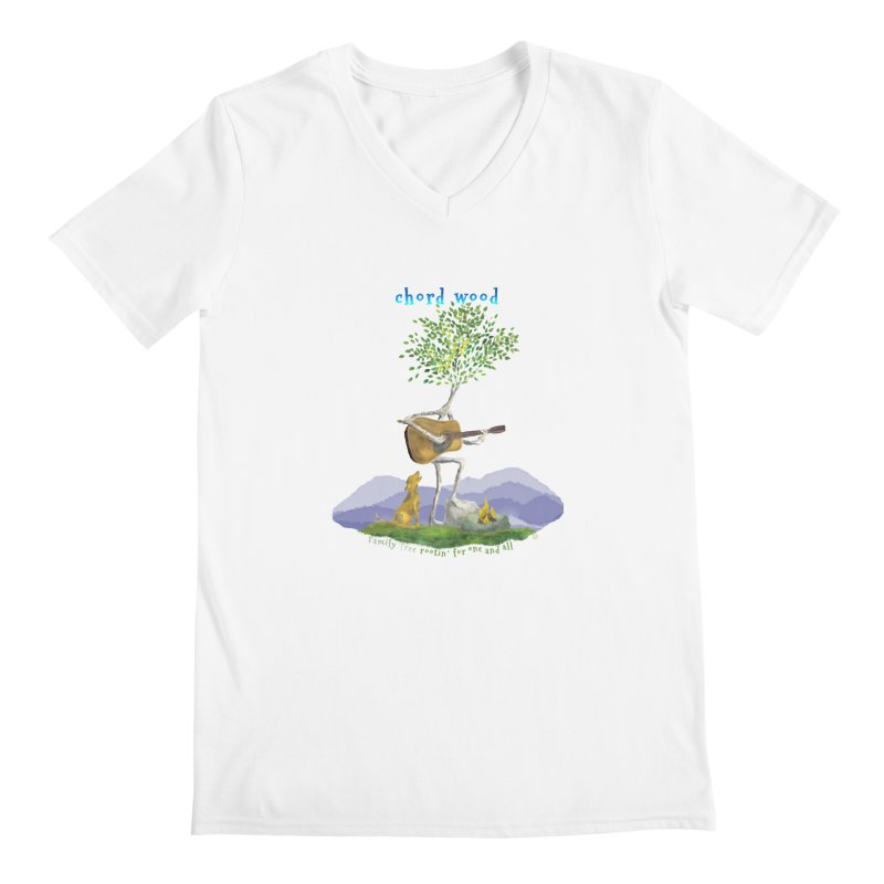 half chord wood Men's V-Neck by Family Tree Artist Shop