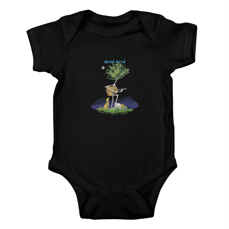 half chord wood Kids Baby Bodysuit by Family Tree Artist Shop