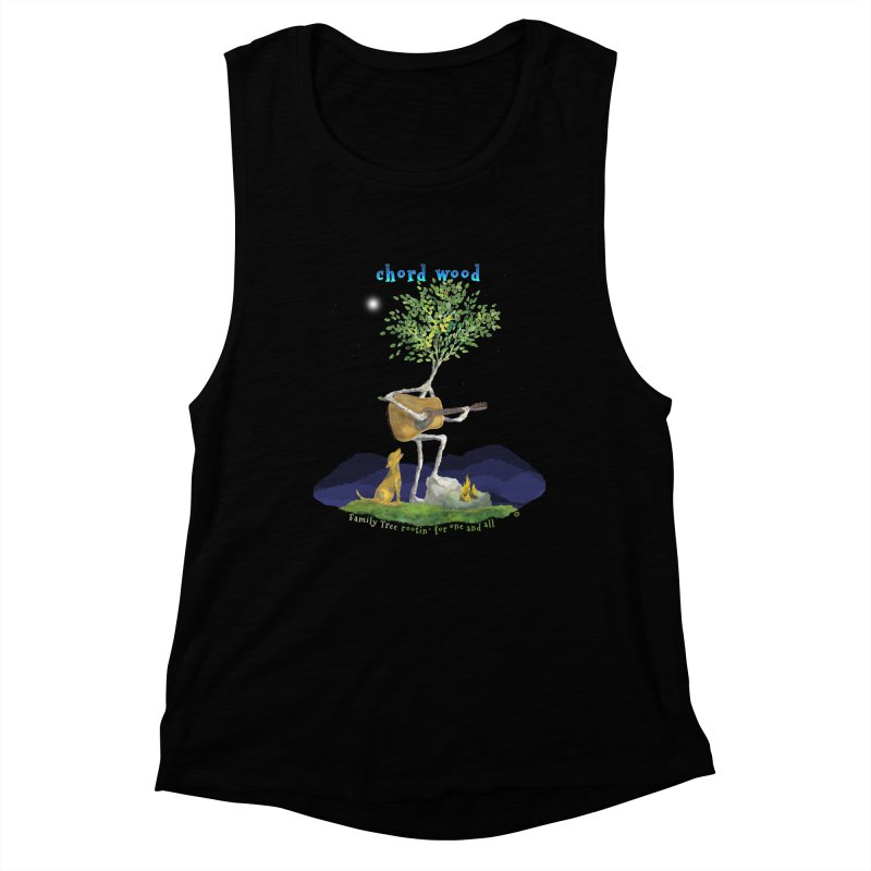 half chord wood Women's Muscle Tank by Family Tree Artist Shop