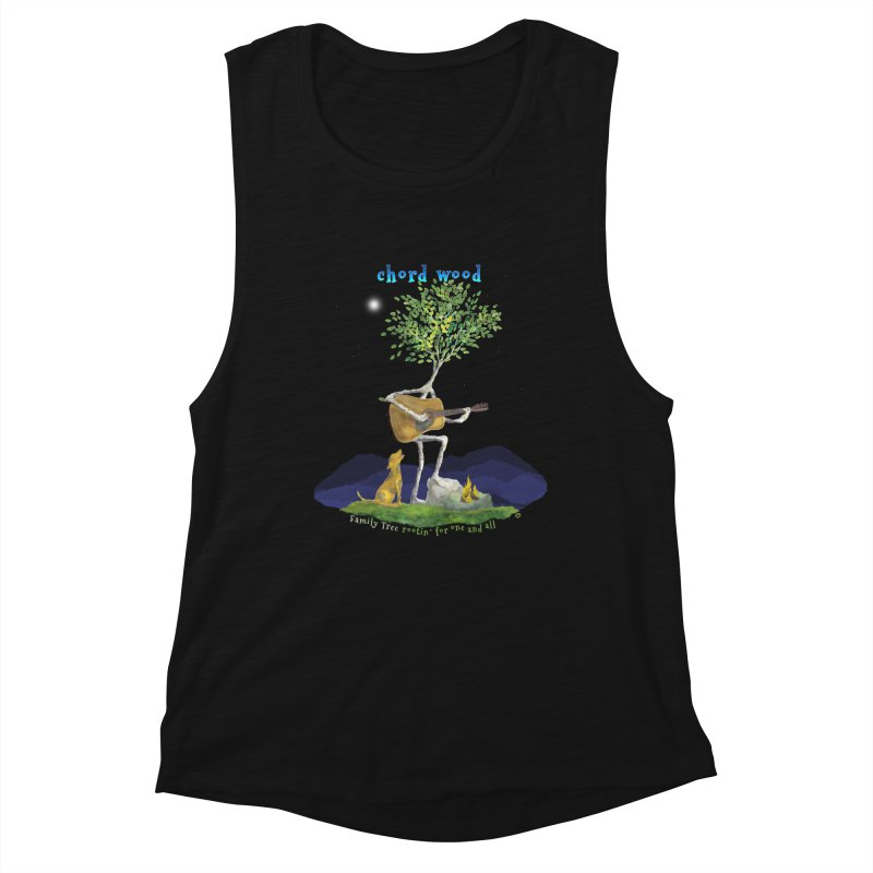 half chord wood Women's Tank by Family Tree Artist Shop