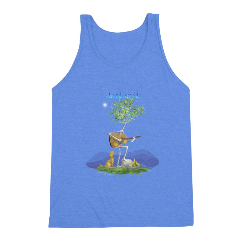 half chord wood Men's Triblend Tank by Family Tree Artist Shop