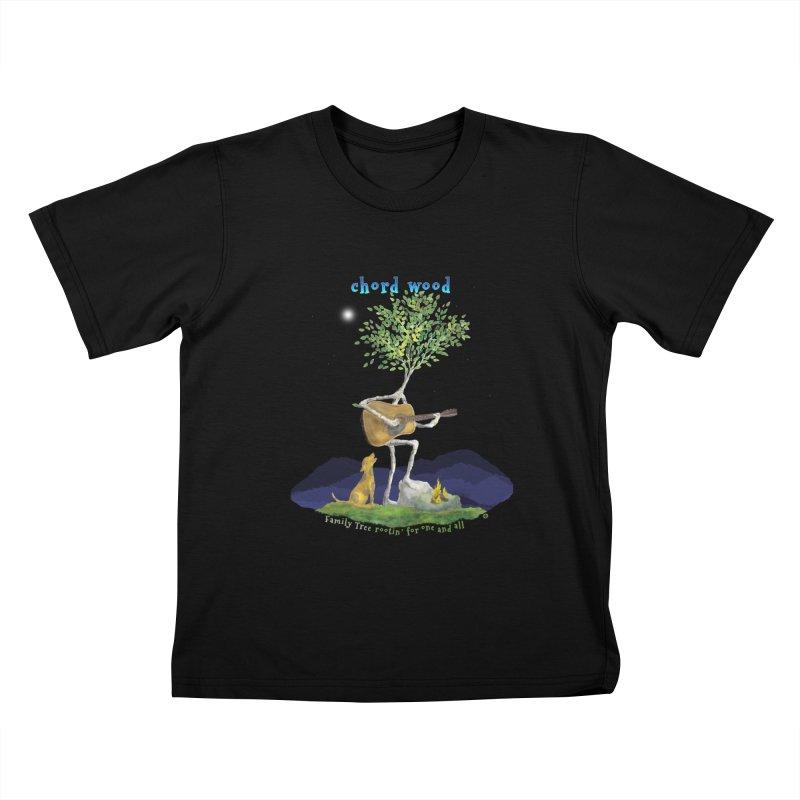 half chord wood Kids T-Shirt by Family Tree Artist Shop
