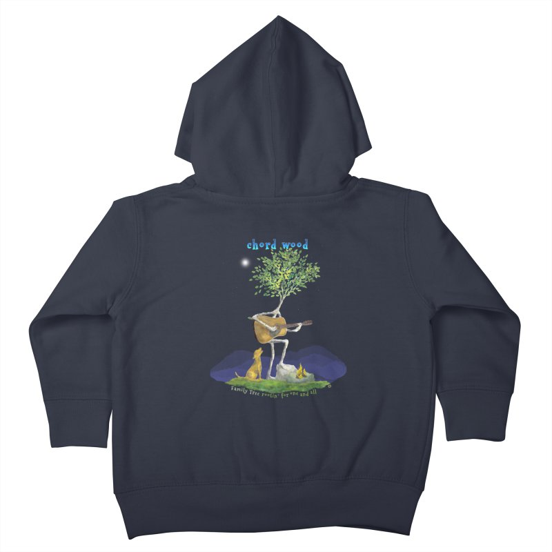 half chord wood Kids Toddler Zip-Up Hoody by Family Tree Artist Shop