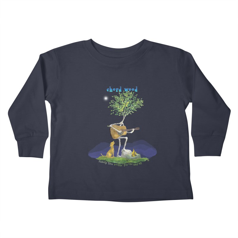 half chord wood Kids Toddler Longsleeve T-Shirt by Family Tree Artist Shop