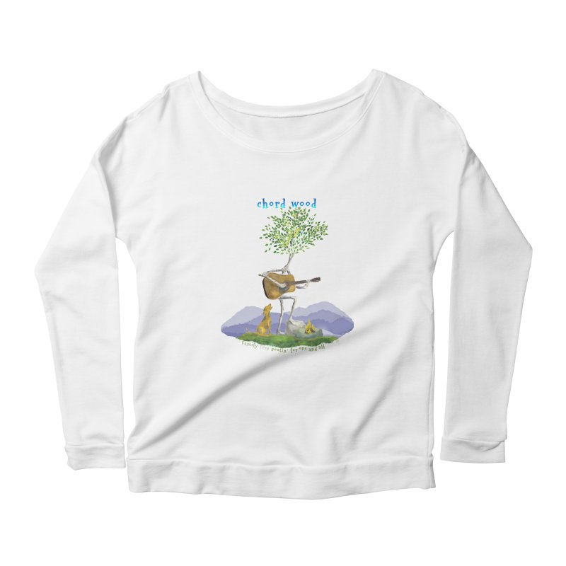 half chord wood Women's Scoop Neck Longsleeve T-Shirt by Family Tree Artist Shop