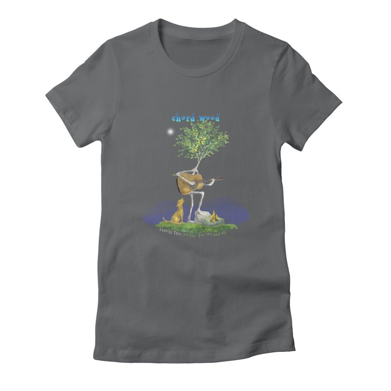 half chord wood Women's Fitted T-Shirt by Family Tree Artist Shop
