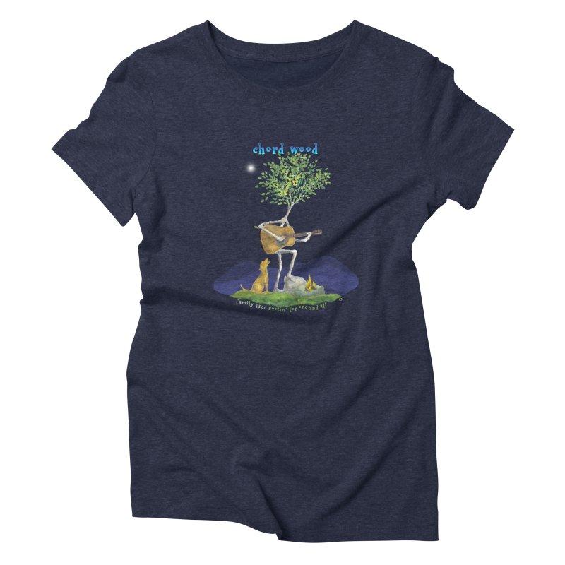 half chord wood Women's Triblend T-Shirt by Family Tree Artist Shop