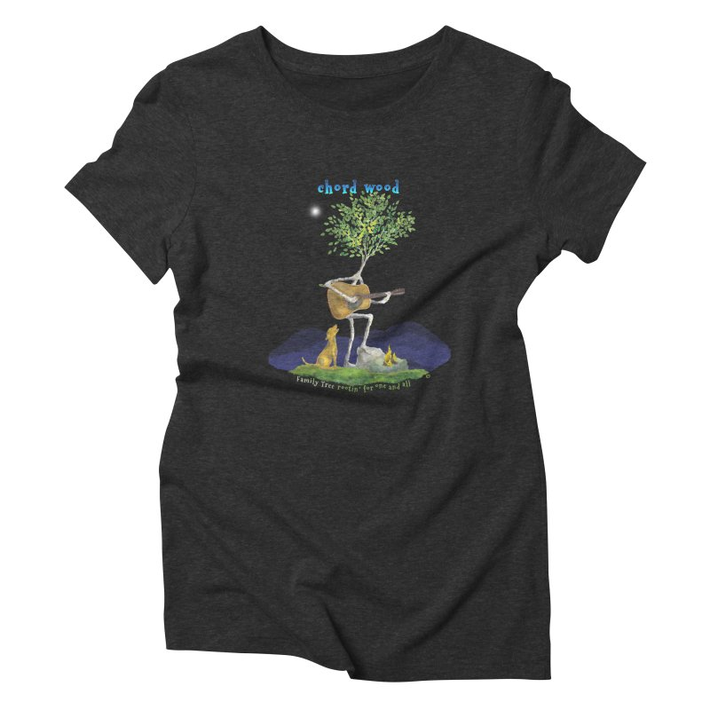 half chord wood Women's Triblend T-Shirt by Family Tree Artist Shop