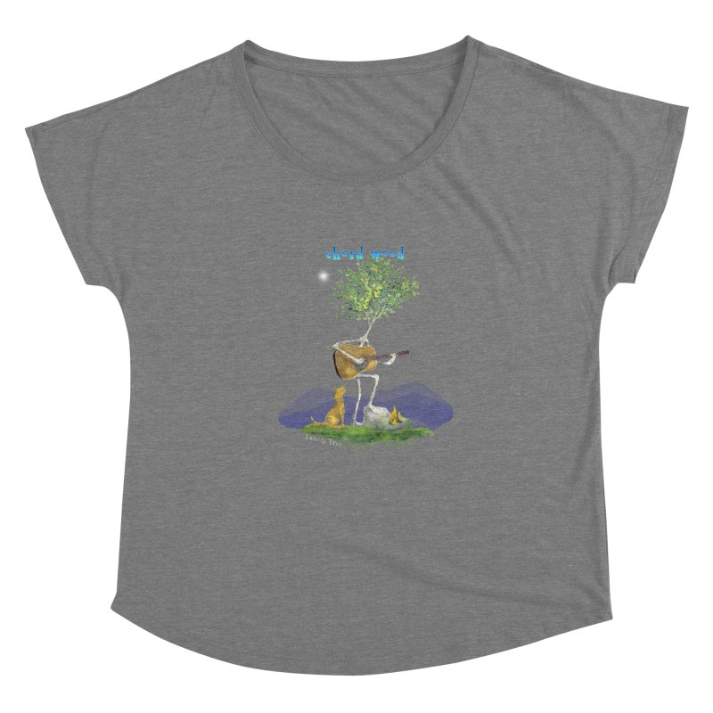 half chord wood Women's Scoop Neck by Family Tree Artist Shop