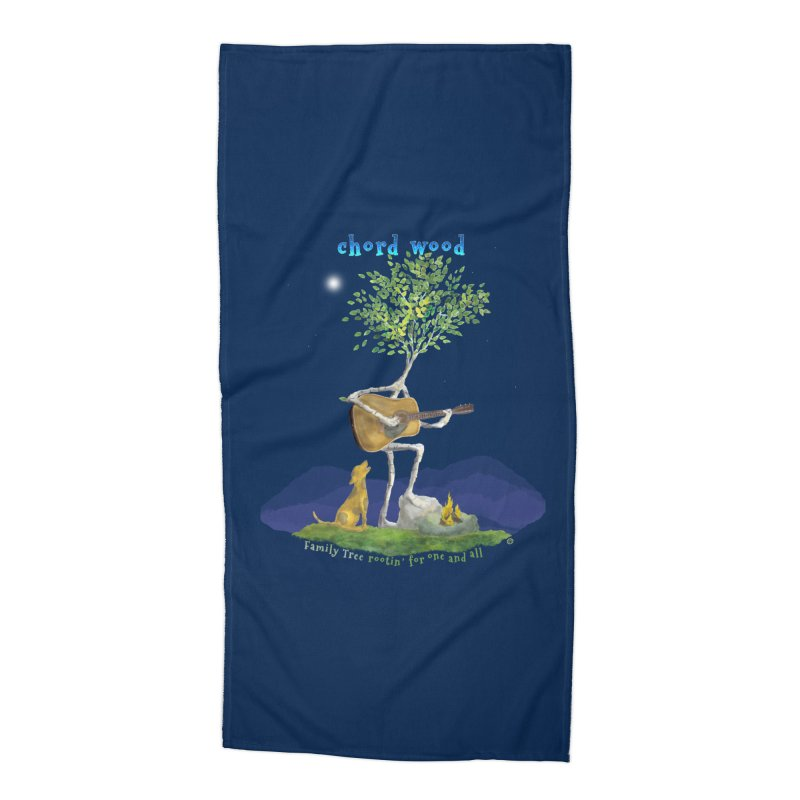 half chord wood Accessories Beach Towel by Family Tree Artist Shop