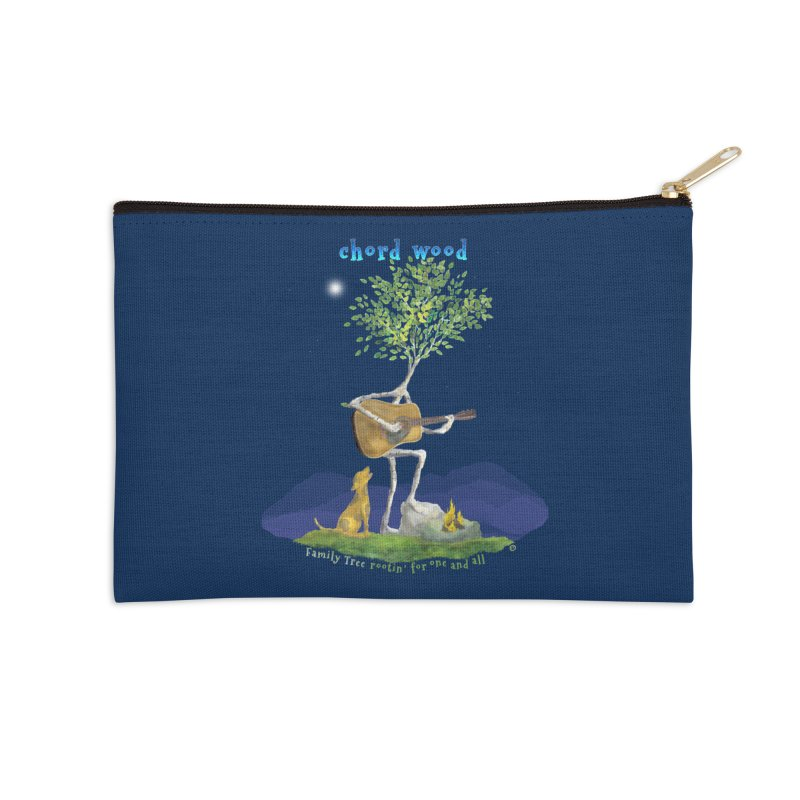 half chord wood Accessories Zip Pouch by Family Tree Artist Shop