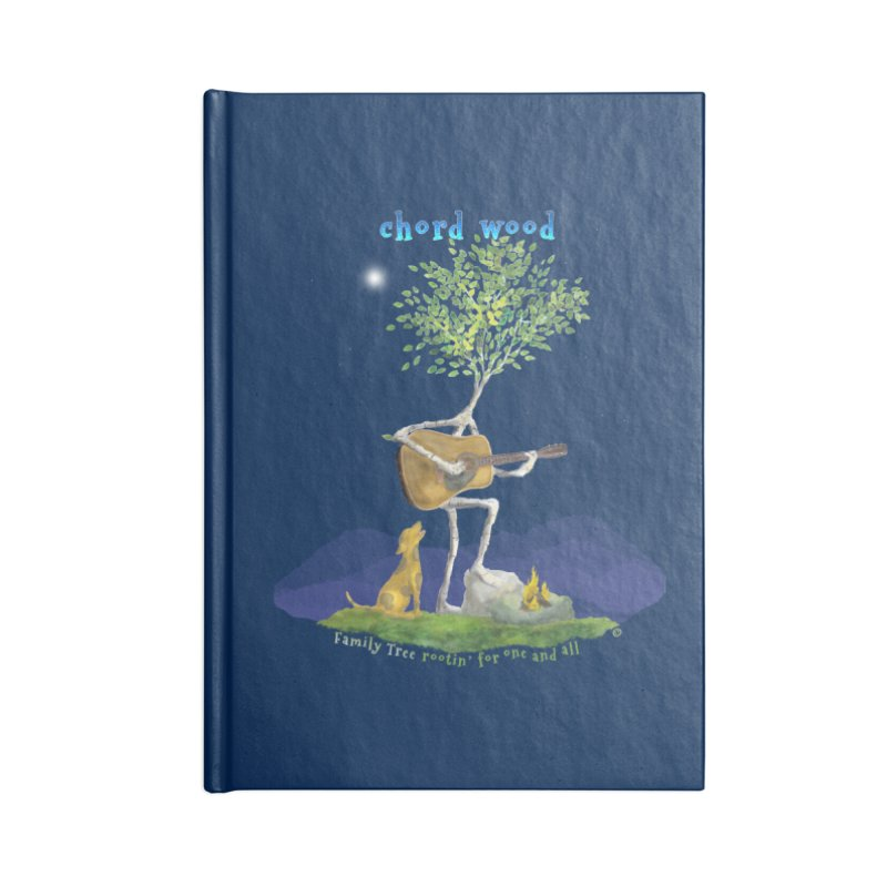 half chord wood Accessories Notebook by Family Tree Artist Shop