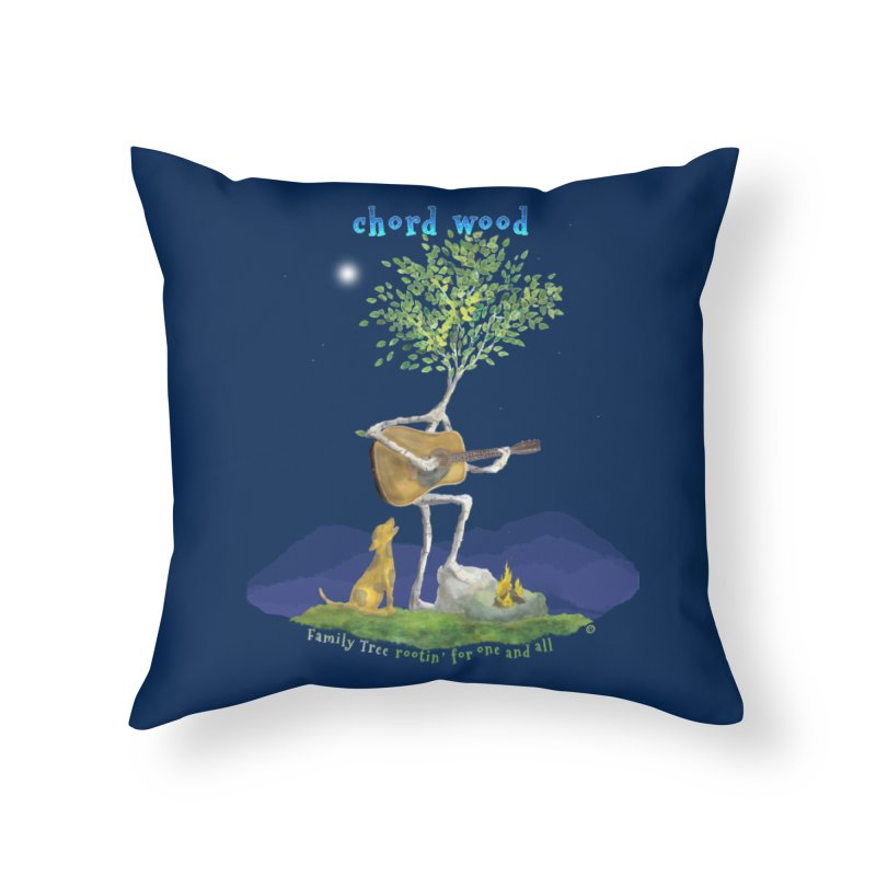 half chord wood Home Throw Pillow by Family Tree Artist Shop