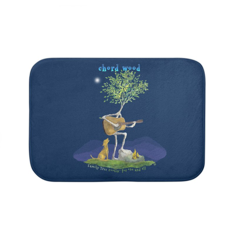 half chord wood Home Bath Mat by Family Tree Artist Shop