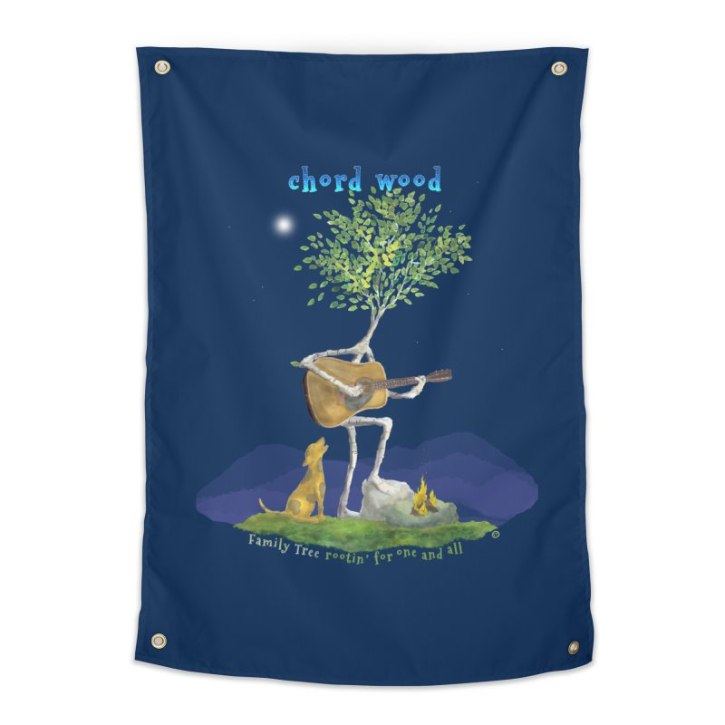 half chord wood Home Tapestry by Family Tree Artist Shop
