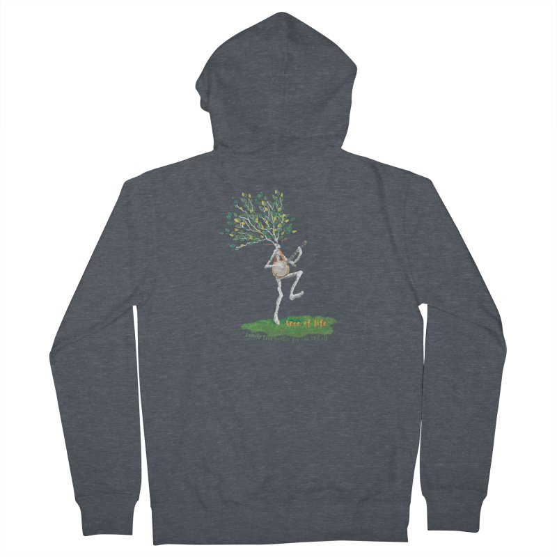 Tree of Life Women's French Terry Zip-Up Hoody by Family Tree Artist Shop