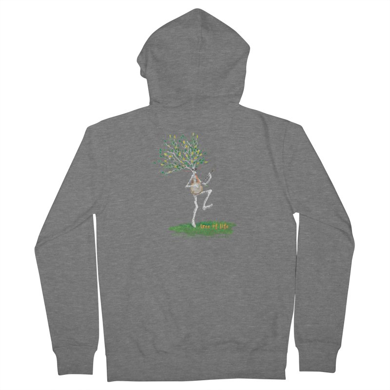 Tree of Life Men's French Terry Zip-Up Hoody by Family Tree Artist Shop