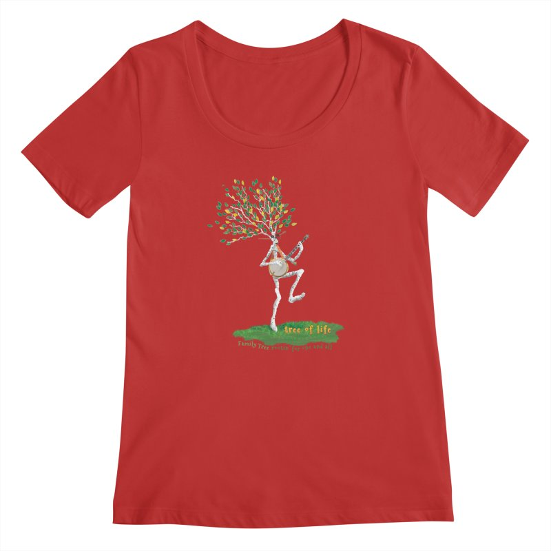 Tree of Life Women's Regular Scoop Neck by Family Tree Artist Shop