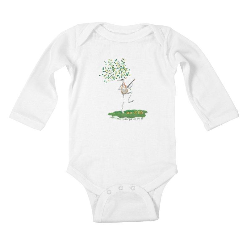 Tree of Life Kids Baby Longsleeve Bodysuit by Family Tree Artist Shop