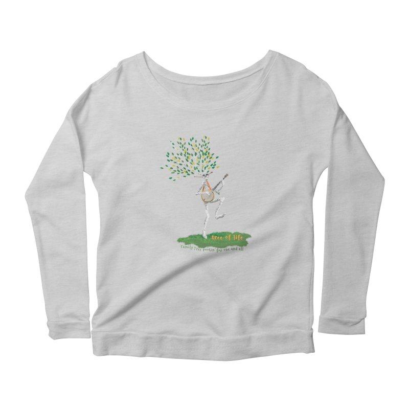 Tree of Life Women's Scoop Neck Longsleeve T-Shirt by Family Tree Artist Shop