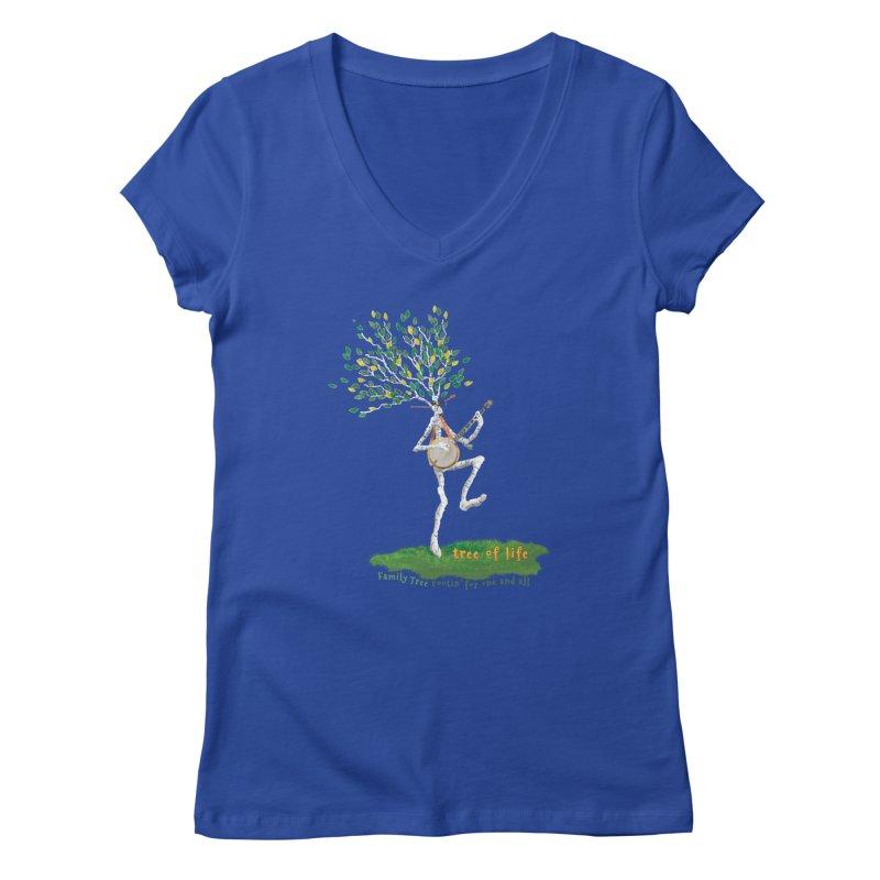 Tree of Life Women's V-Neck by Family Tree Artist Shop