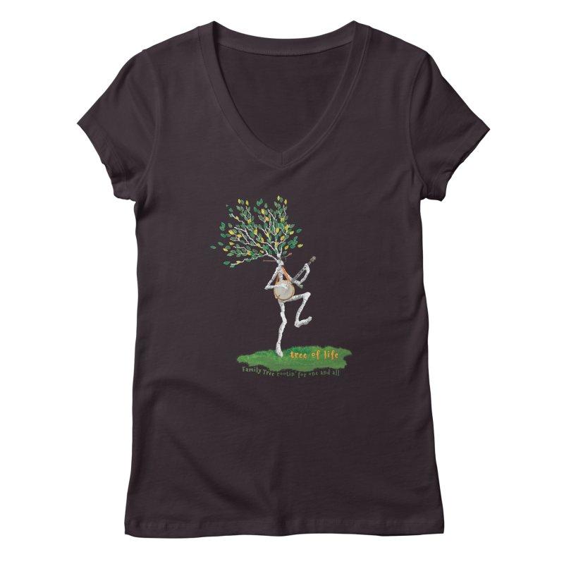 Tree of Life Women's Regular V-Neck by Family Tree Artist Shop
