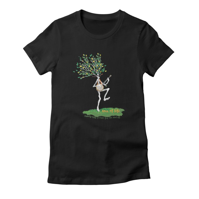 Tree of Life Women's Fitted T-Shirt by Family Tree Artist Shop