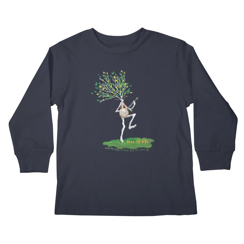 Tree of Life Kids Longsleeve T-Shirt by Family Tree Artist Shop