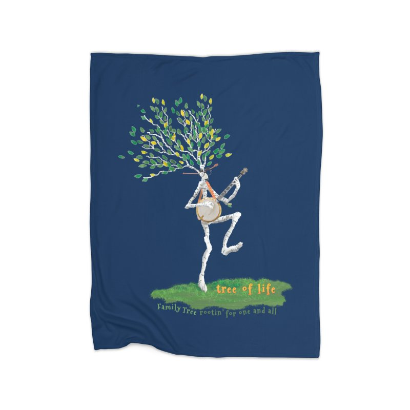 Tree of Life Home Fleece Blanket Blanket by Family Tree Artist Shop