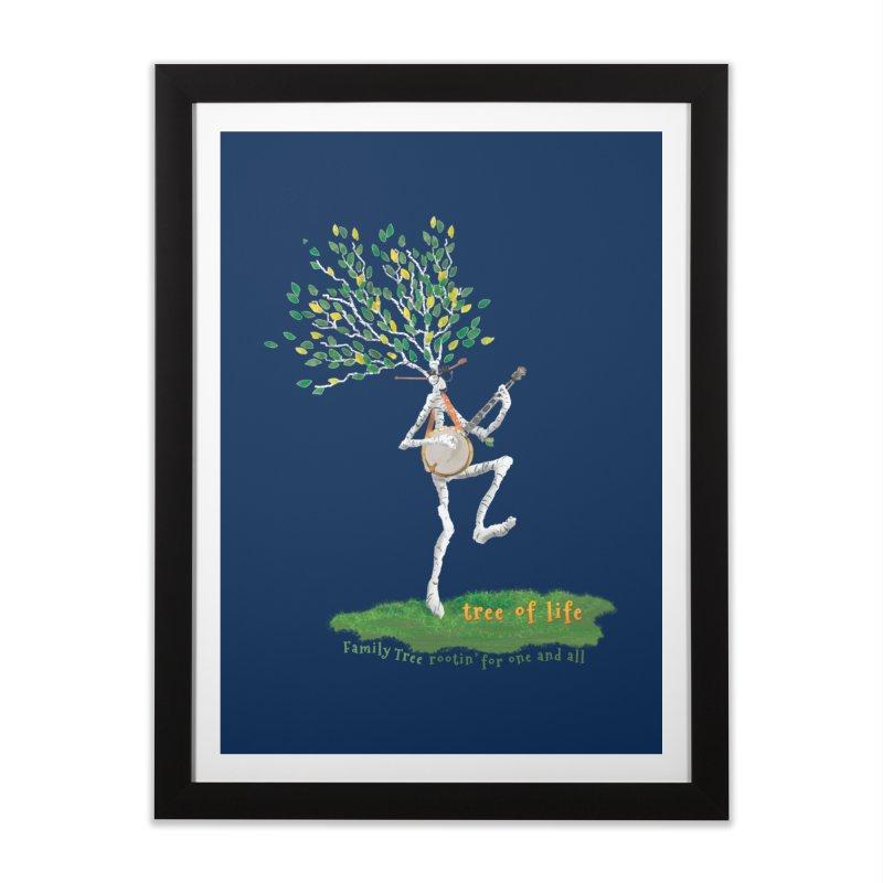 Tree of Life Home Framed Fine Art Print by Family Tree Artist Shop