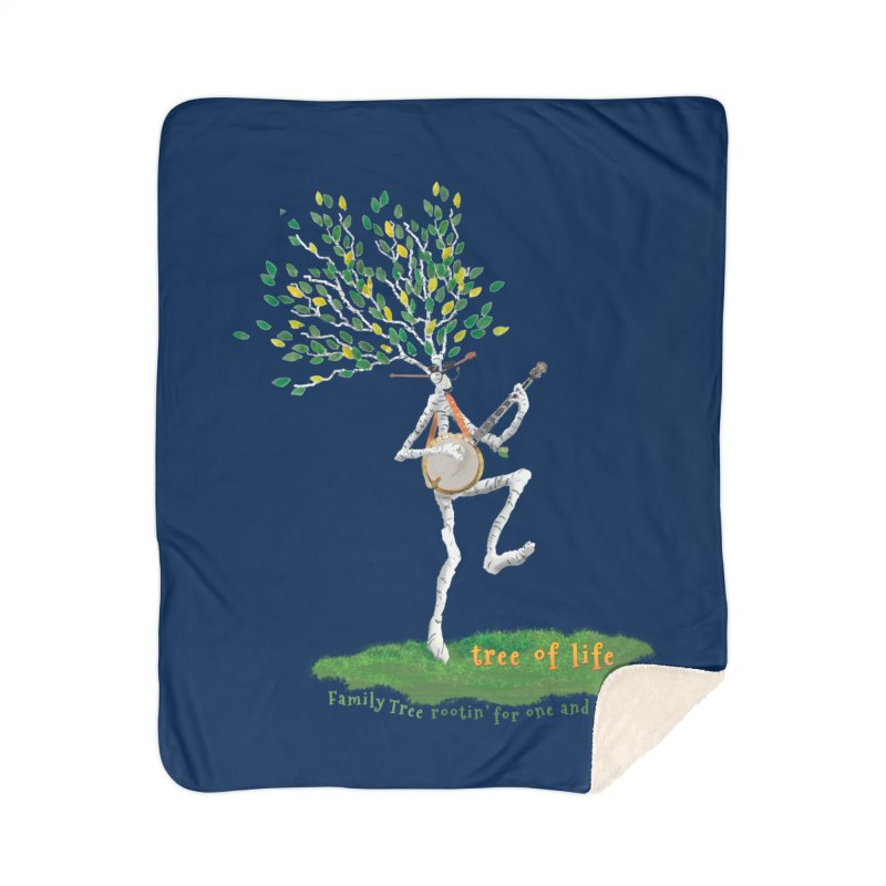 Tree of Life Home Sherpa Blanket Blanket by Family Tree Artist Shop