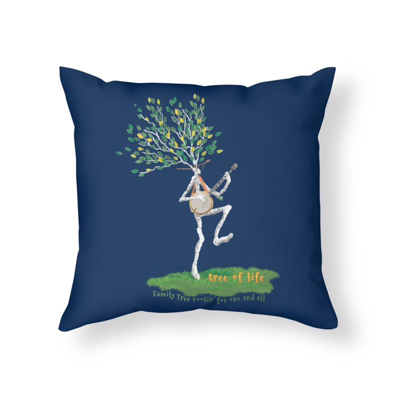 Tree of Life Home Throw Pillow by Family Tree Artist Shop