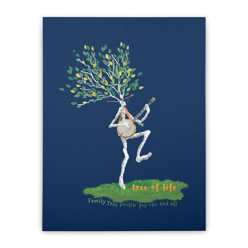 Tree of Life Home Stretched Canvas by Family Tree Artist Shop