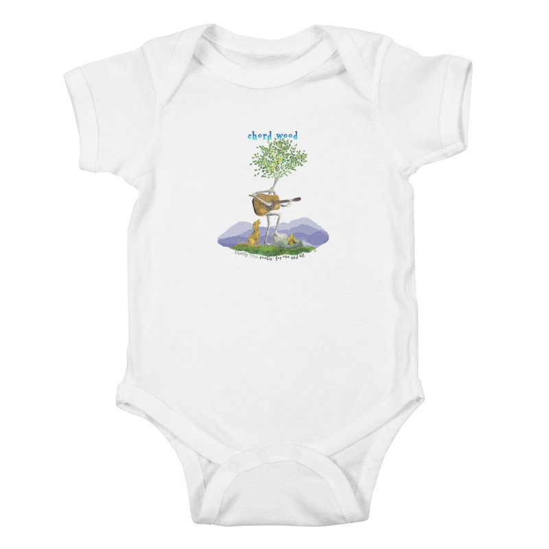 Chord Wood Kids Baby Bodysuit by Family Tree Artist Shop