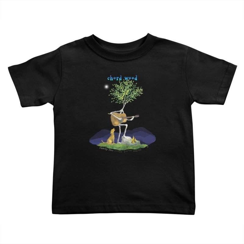 Chord Wood Kids Toddler T-Shirt by Family Tree Artist Shop