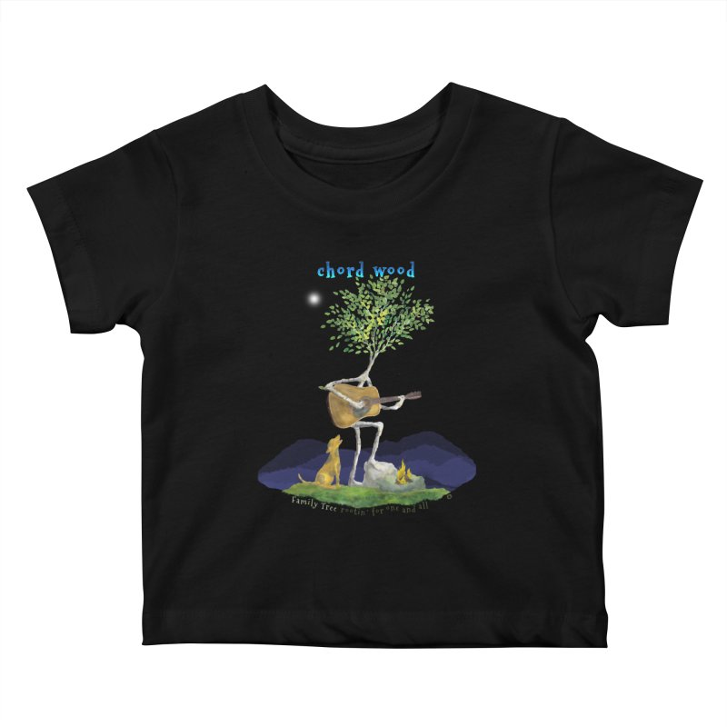 Chord Wood Kids Baby T-Shirt by Family Tree Artist Shop