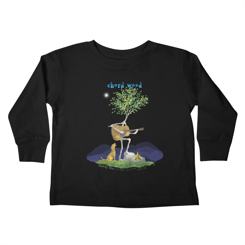 Chord Wood Kids Toddler Longsleeve T-Shirt by Family Tree Artist Shop