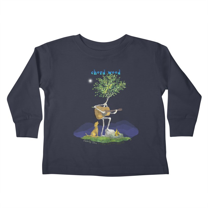 Chord Wood Kids Toddler Longsleeve T-Shirt by Family Tree Artist Shop