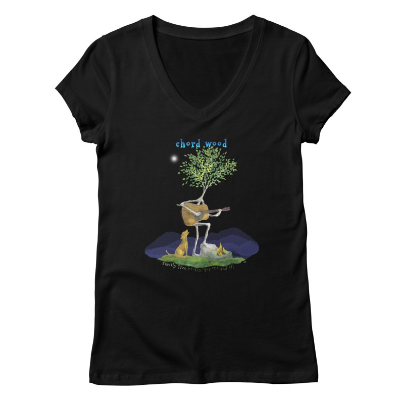 Chord Wood Women's V-Neck by Family Tree Artist Shop