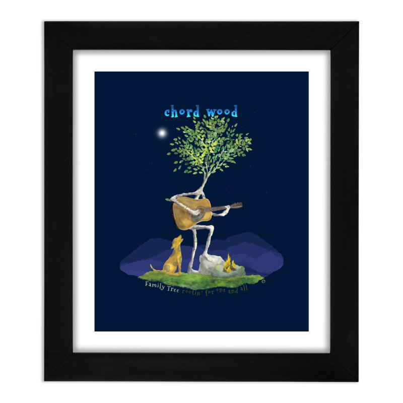 Chord Wood Home Framed Fine Art Print by Family Tree Artist Shop