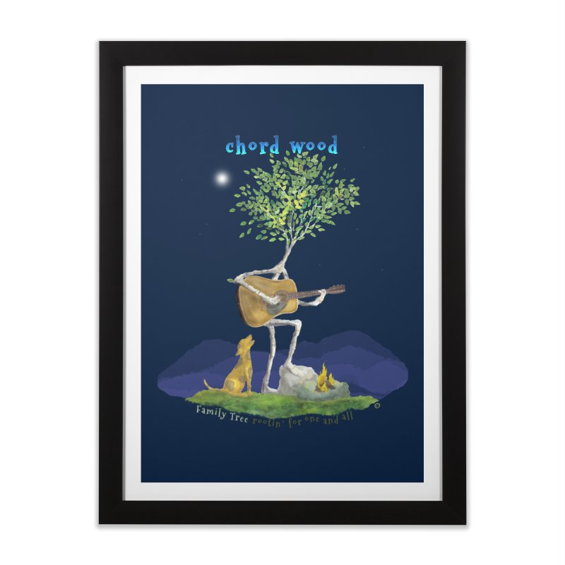 Chord Wood Home Framed Fine Art Print by Family Tree Artist Shop