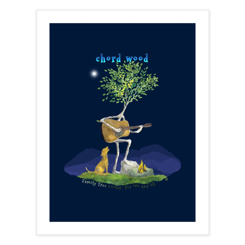 Chord Wood Home Fine Art Print by Family Tree Artist Shop