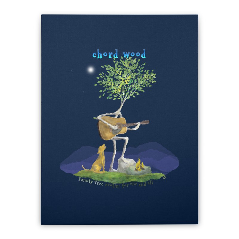 Chord Wood Home Stretched Canvas by Family Tree Artist Shop