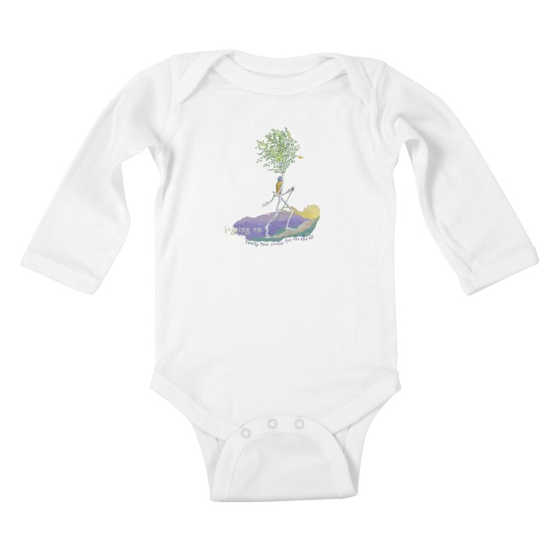 Loggin On Kids Baby Longsleeve Bodysuit by Family Tree Artist Shop