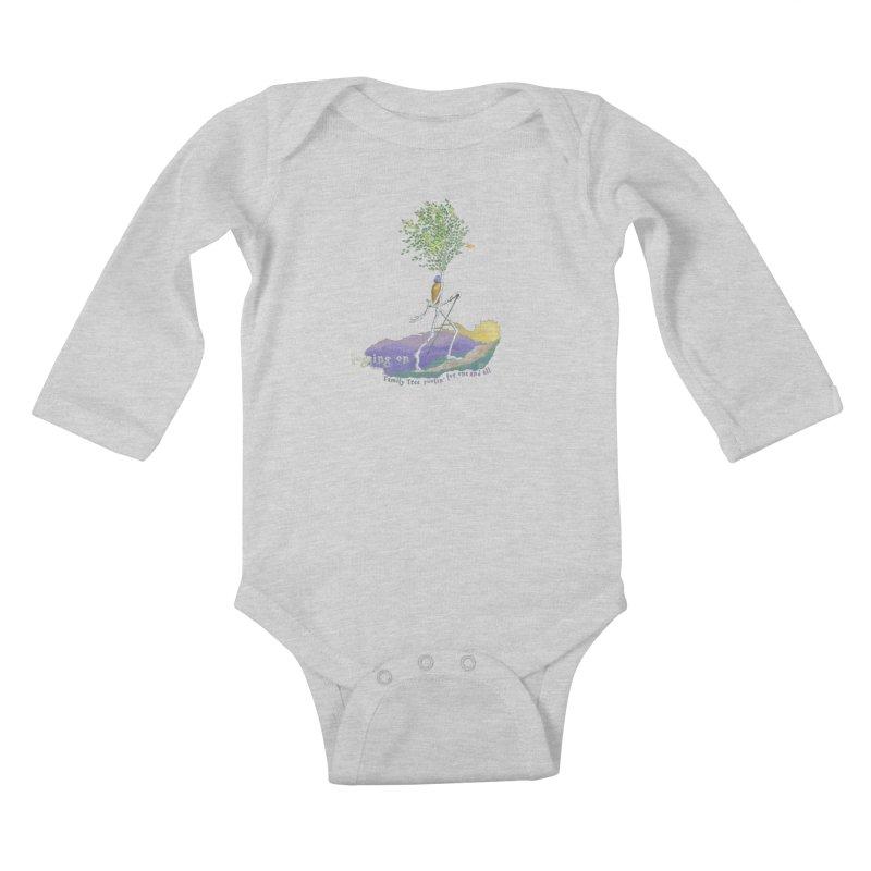 Loggin On Kids Baby Longsleeve Bodysuit by Family Tree Artist Shop